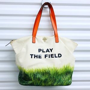 Kate Spade Play The Field Canvas Tote Bag
